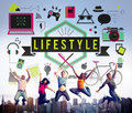 Lifestyle hobby passion habits culture behavior concept Royalty Free Stock Image