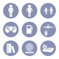 Lifestyle people icon set pictogram for presentation in