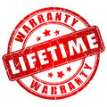 Lifetime warranty stamp isolated on white background Royalty Free Stock Photography