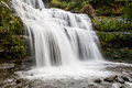 Liffey falls in state reserve on a cold winter s morning in tasmania australia Stock Images