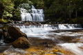 Liffey falls in state reserve on a cold winter s morning in tasmania australia Stock Photo