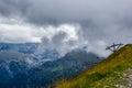 Lift mountainous landscape cloudy day austria Royalty Free Stock Photo
