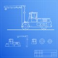 Lift truck blueprint Royalty Free Stock Image