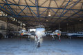 Light Aircraft Hanger Stock Photography