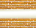 Light background with brick wall nd place for text Royalty Free Stock Image