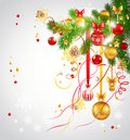 Light background with  christmas tree Royalty Free Stock Image