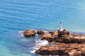 Light beacon knysna view from the heads south africa Stock Photography