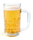 Light beer glass of on a white background Royalty Free Stock Photo
