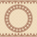 Light beige vector background with brown ornament