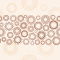 Light beige background seamless pattern with ornamental wheels Stock Photo