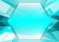 Light blue abstract poly and hexagon background with copy space