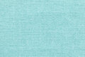 Light blue background from a textile material with wicker pattern, closeup. Royalty Free Stock Photo