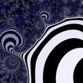 Light blue and black striped fractal pattern