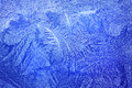 Light blue frost pattern Royalty Free Stock Photo