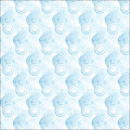Light blue gradient spiral pattern the seamless vector with curl Stock Photography