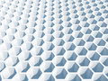 Light blue honeycomb surface d illustration background texture Royalty Free Stock Image