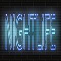 Light Blue Neon Letters - Nigh...