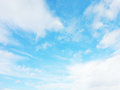 Light blue sky with white clouds on a sunny day Royalty Free Stock Photo