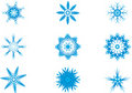 Light Blue Snow flake Royalty Free Stock Photography