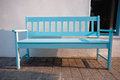 Light blue street chair Royalty Free Stock Photography