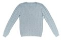 Light blue sweater is on white Royalty Free Stock Photography