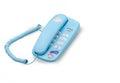 Light blue telephone Royalty Free Stock Photo
