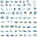 Light blue Transport icons Royalty Free Stock Photo