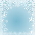 Light blue winter seasonal background with snowflakes is resented Stock Photos