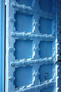 Light Blue Wood Door Royalty Free Stock Photo