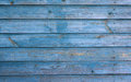 Light blue wooden house wall with peeling paint, texture Royalty Free Stock Photo