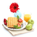 Light breakfast Royalty Free Stock Photography