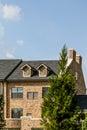 Light Brick Condos with Dormers Royalty Free Stock Photo