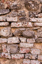 Light Brown brick wall background texture, old bricks rusty wall