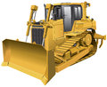 Light-brown dozer Stock Photos