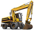 Light-brown excavator Stock Image