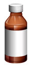 A light brown medical bottle Royalty Free Stock Images