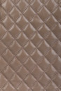 Light brown quilted leather background Royalty Free Stock Photo
