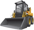 Light-brown skid steer loader Stock Photos