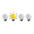 stock image of  Light bub the big idea concept