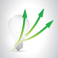 Light bulb arrow illustration design over a white background Stock Photo