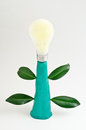 Light bulb become a tree Royalty Free Stock Photos