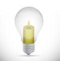 Light bulb and candle illustration design