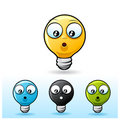 Light bulb character: Confused Royalty Free Stock Image