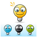 Light bulb character: smile Royalty Free Stock Photography
