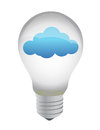 Light bulb cloud eco Royalty Free Stock Image