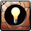 Light bulb cracked bronze web button Royalty Free Stock Photo