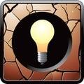 Light bulb cracked bronze web button Royalty Free Stock Photo