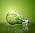 Light bulb ecological concept in illustration vector Royalty Free Stock Photos