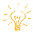 Light bulb hand drawn vector illustration Stock Image