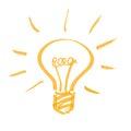 Light bulb hand drawn vector illustration Stock Image
